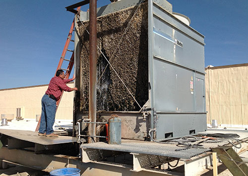Cooling tower setting and removal